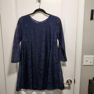 Dark Blue Lacy Dress